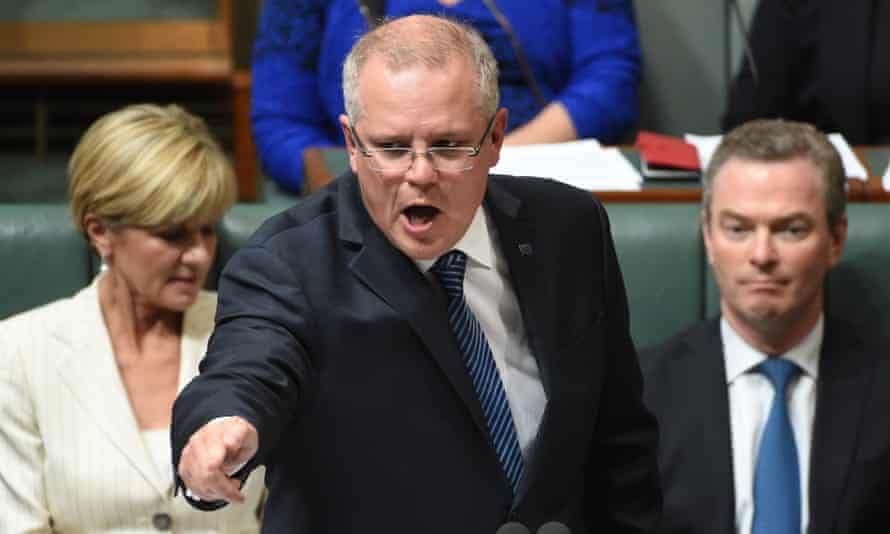The treasurer, Scott Morrison, during question time on Monday.