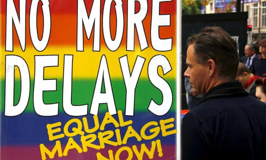 Gay rights activists in Sydney