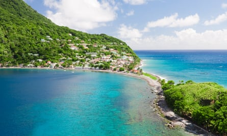 The village of Scotts Head, Soufrière Bay, Dominica