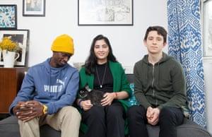 Malik, with Hena and Hugh