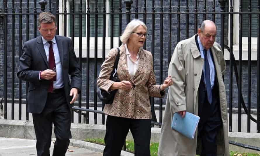 Margot James (centre) with Richard Benyon (left) and Nicholas Soames (right)