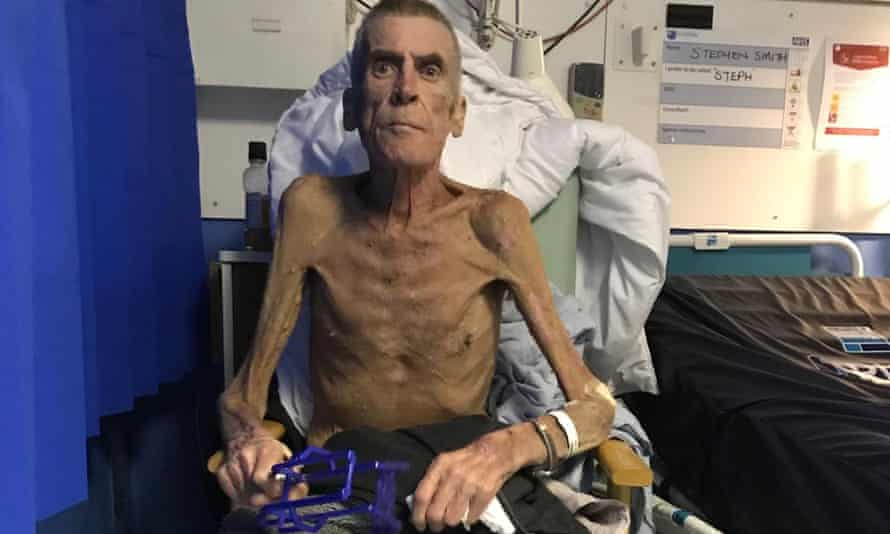 Stephen Smith in hospital