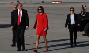 Melania Trump accompanies her husband, Donald, on a private visit to his Mar-a-Lago Resort in Palm Beach, Florida. She has appeared at few official events.