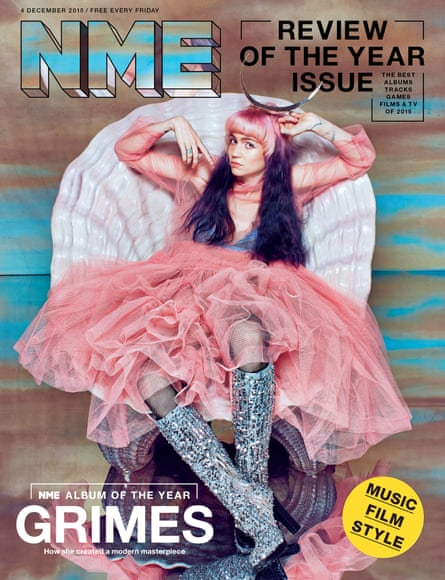 Grimes on the cover of NME.