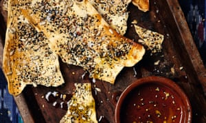 Yotam Ottolenghi's crisp seeded flatbread.