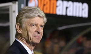 Arsène Wenger enjoys the surrounding of Gander Green Lane during Arsenal's 2-0 win over Sutton United in the FA Cup