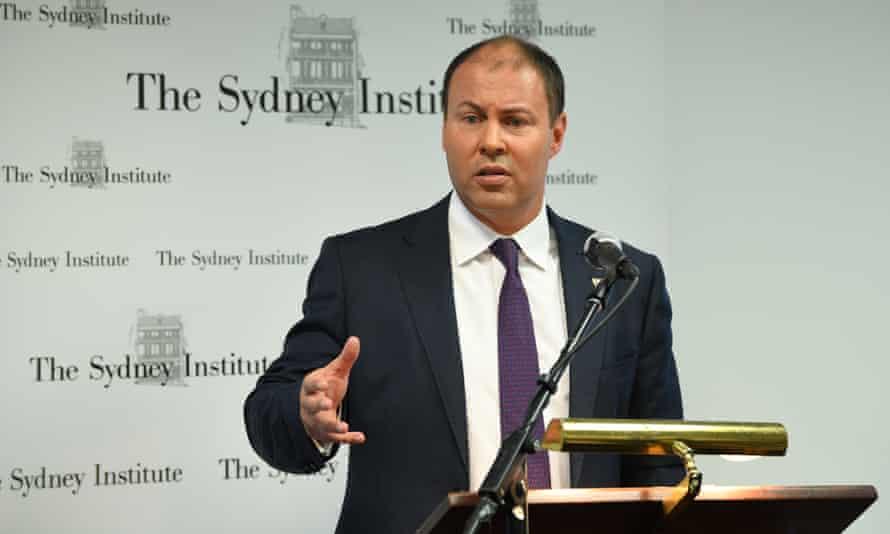 Federal treasurer Josh Frydenberg at the Sydney Institute, 22 January 2019.