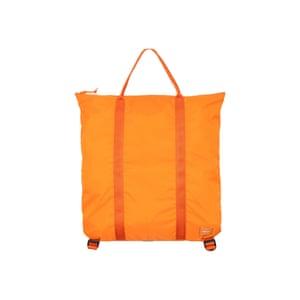 2 Way Tote Bag Orange, £150, Porter Yoshida & Co at couvertureandthegarbstore.com