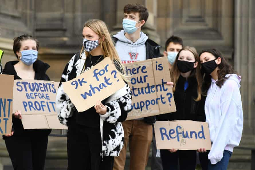 Edinburgh University students protest over lack of support during the pandemic