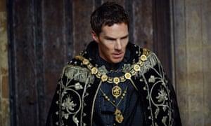 Benedict Cumberbatch as Richard III in The Hollow Crown.
