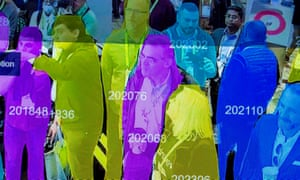 FILES-US-IT-LIFESTYLE-PRIVACY-POLICE<br>(FILES) In this file photo taken on January 10, 2019, a live demonstration uses artificial intelligence and facial recognition in dense crowd spatial-temporal technology at the Horizon Robotics during CES 2019 in Las Vegas. - A majority of Americans trust law enforcement to use facial recognition technology responsibly but fewer are comfortable about its deployment by the private sector, a poll showed on September 5, 2019. The Pew Research Center survey found US adults have confidence in law enforcement on using the artificial intelligence systems by a 56-39 percent margin, and a larger majority endorse the use of the technology to assess security threats in public spaces. (Photo by DAVID MCNEW / AFP)DAVID MCNEW/AFP/Getty Images