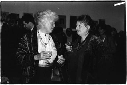 Betty Burstall, founder of La Mama theatre, with its artistic director Liz Jones, in 1992.