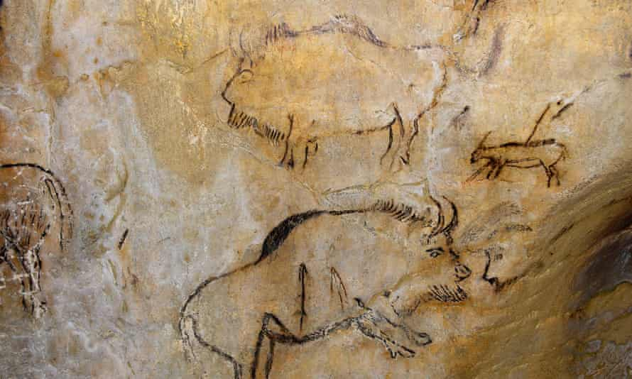 Great leap forward for art … paintings in the prehistoric cave of Niaux, France.