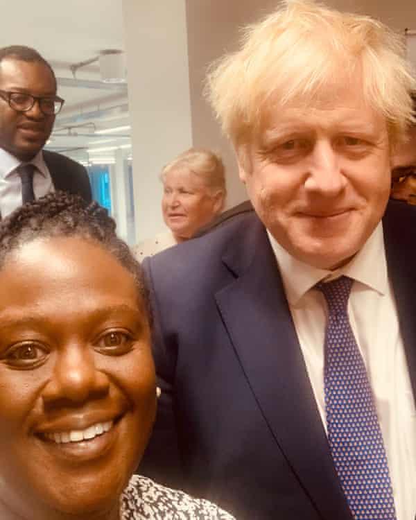 Neomi Bennett with Boris Johnson