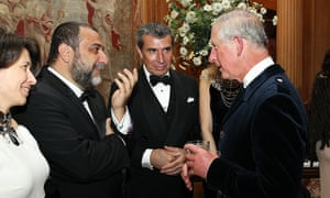 Ruben Vardanyan (second left) with Prince Charles