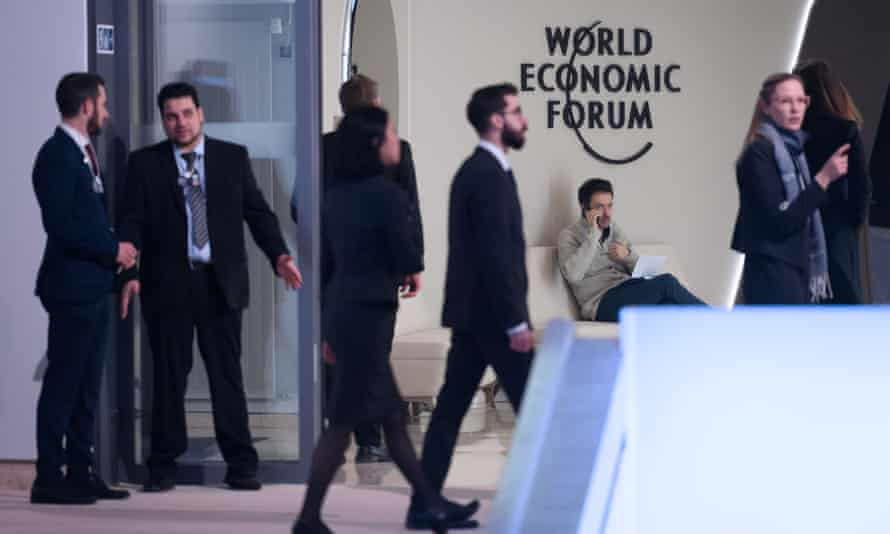 Staff and delegates in Davos