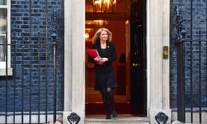 Esther McVey leaving No 10 Downing Street