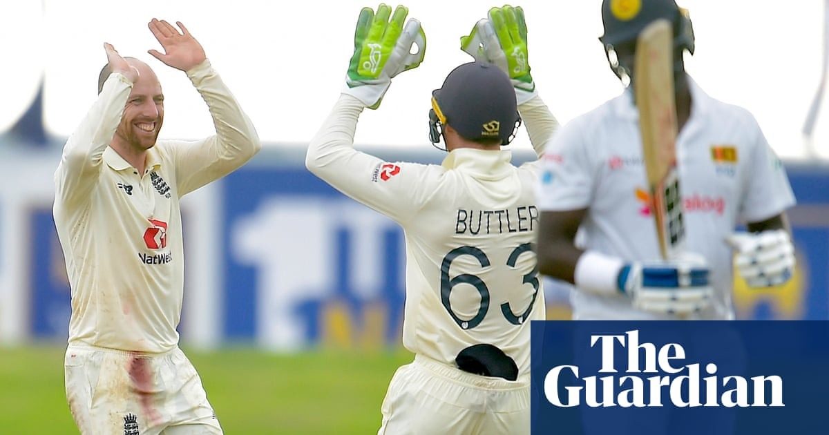 England require 36 to beat Sri Lanka after Jack Leach shines with five wickets