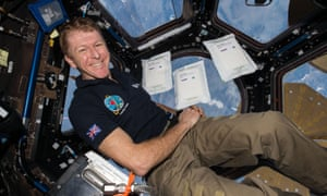 Tim Peake in space.
