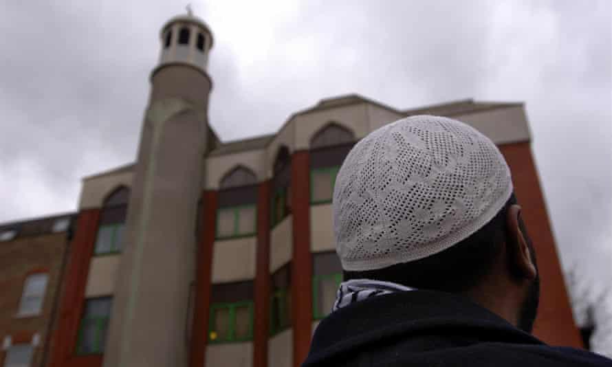 A Muslim man outside Finsbury Park mosque