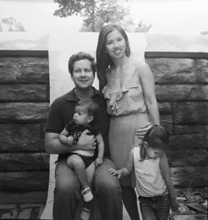 Julie Yip-Williams with her husband and children, in a photo from 2012.