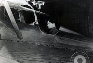 Captain Albert Ball, one of the greatest British aces of the first world war, seen here in his Royal Flying Corps SE5a plane, circa 1917.