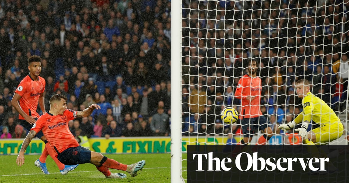 Lucas Digne's last-gasp own goal hands Brighton dramatic win over Everton