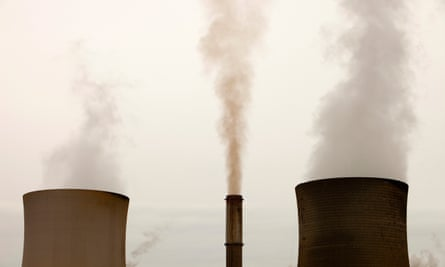 Emissions from a coal fired power station in the Latrobe Valley, Victoria.