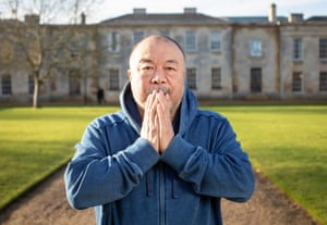 'I can be as brutal as any animal to protect what I love' … Ai Weiwei at the University of Cambridge.
