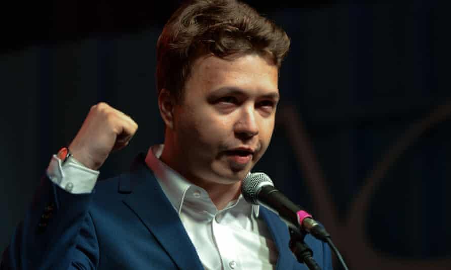Roman Protasevich was taken into custody by Belarusian police.