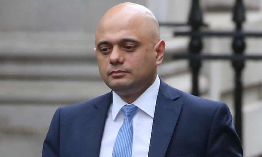 Sajid Javid in Downing Street.