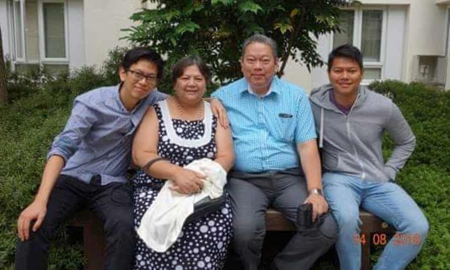 Dr Peter Tun with his wife Win Mar and sons William and Michael