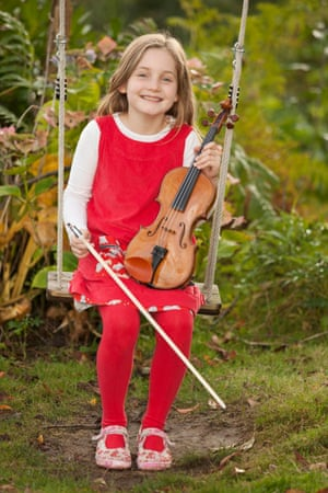 In the swing of it … Alma Deutscher at the age of seven