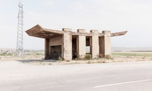 A Soviet bus stop, taken from a book published by Fuel.