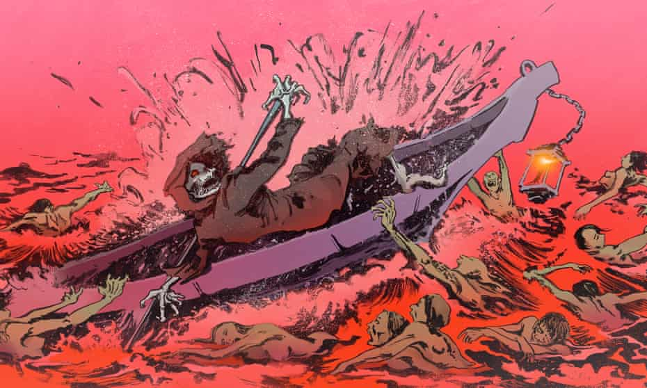 illustration of river styx