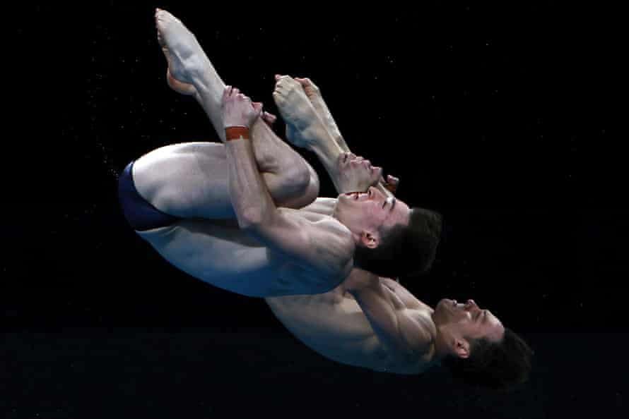 Tom Daley and Matty Lee somersault