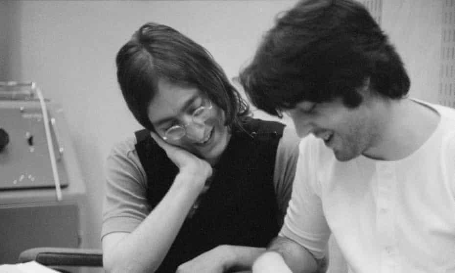 John Lennon and Paul McCartney by Linda McCartney