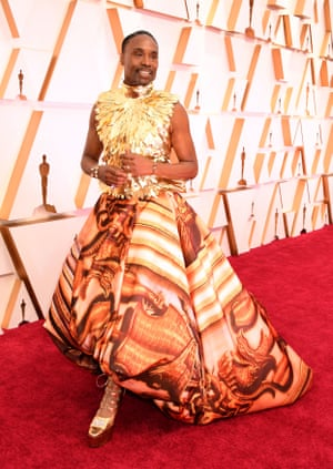 Billy Porter on the red carpet at the 92nd Academy Awards held at the Dolby Theatre in Hollywood.