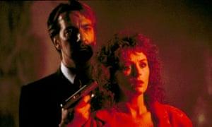 Sticky end ... Alan Rickman as the villainous Hans Gruber with Bonnie Bedelia in Die Hard.Photograph: 20th Century Fox /Everett/Rex Features