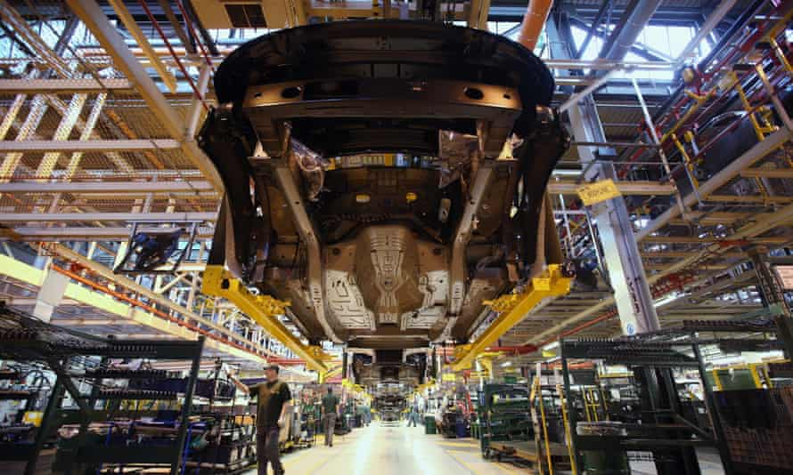 The Jaguar Land Rover factory in Solihull, England.