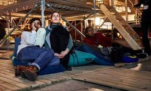 Blurring the distinction between sleep and wakefulness … the Sleepcinemahotel in Rotterdam.
