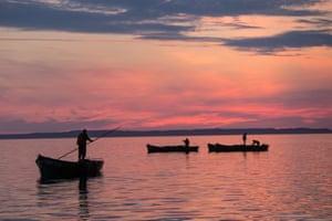 Arkhangelsk Region, Russia Workers harvest kelp on Malaya Muksalma Island as part of the Solovetsky Islands in the White Sea
