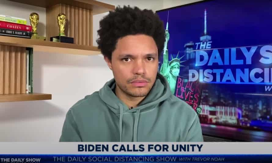 """Trevor Noah: """"Unity doesn't mean you just do what the losers want. It definitely doesn't mean that you can't hold Trump accountable for what he did."""""""