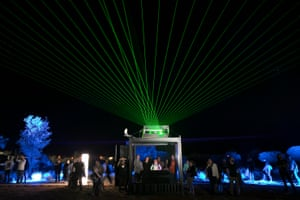 'Range of Expression' is an interactive booth allowing visitors to control the laser show as well as the entire illumination of the ranges, in between the main displays.