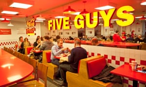 Five Guys in Covent Garden, London ... the US company now has 80 branches in the UK.