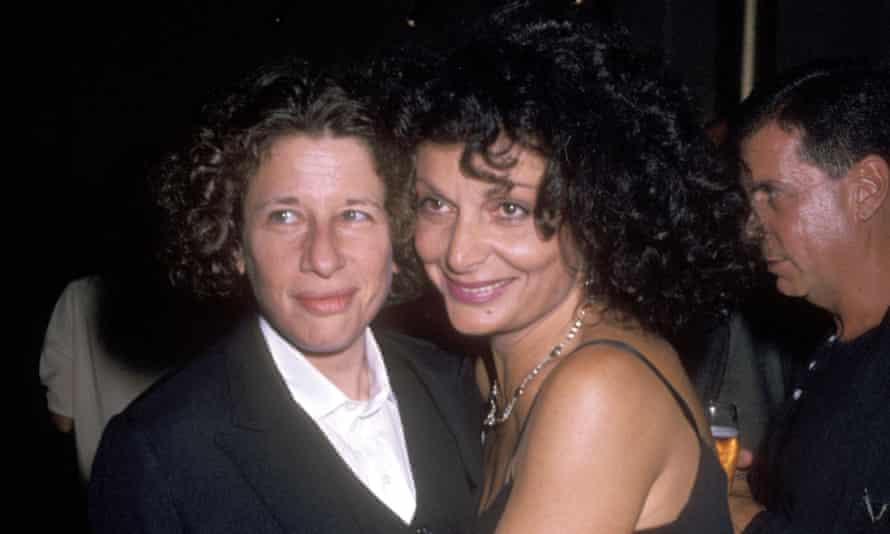With designer Diane von Furstenberg, 1990.