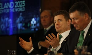 Brian O'Driscoll, centre, promised '100,000 welcomes' during Ireland's presentation for the 2023 Rugby World Cup