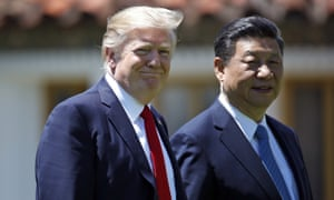 Donald Trump with Chinese president Xi Jinping