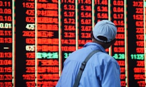 Stock markets fell in Japan, while remaining flat in China.
