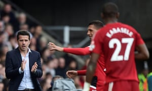 Watford's manager Marco Silva makes a point from the sideline